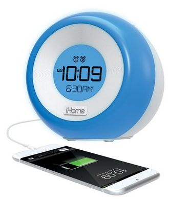 Ihome Color Changing Dual Alarm Fm Clock Radio With Usb Charging - Im29  Silver