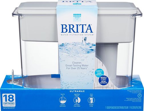 Brita 18-Cup UltraMax Filtered Water Dispenser, BPA Free, Whites